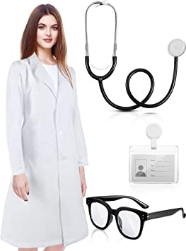 4 Piezas Disfraz de Científico para Adultos Unisex Bata de ...