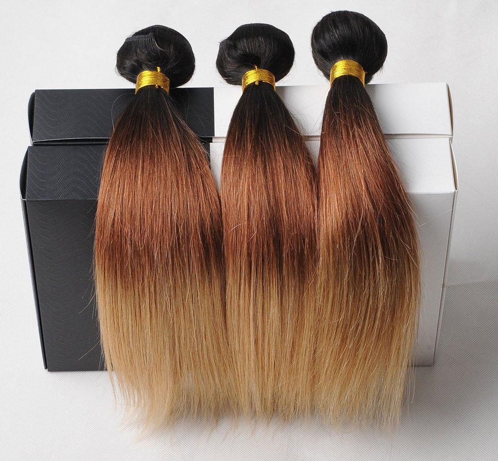 Amazon Brazilian Ombre Hair Weft Extensions Ombre Weave Human