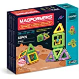 Magformers Space Traveler Set (35 Piece) Magnetic    Building      Blocks, Educational  Magnetic    Tiles Kit , Magnetic    Construction  STEM Travel Toy Set