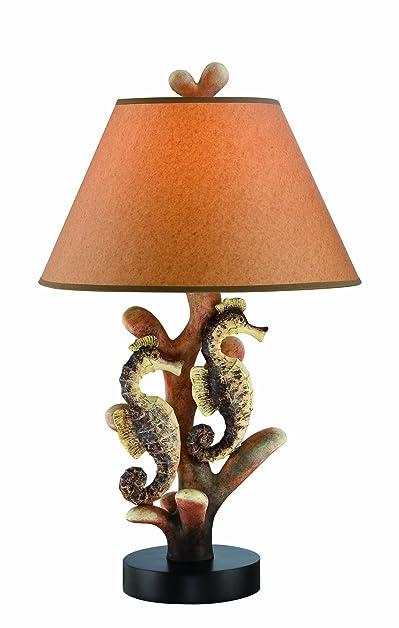 Lite Source LS-22416 Seahorse Table Lamp, Multi-Orange, Multicolored ...