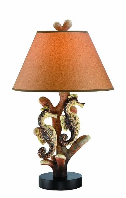 Lite Source LS 22416 Seahorse Table Lamp, Multi Orange, Multicolored