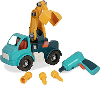 Battat Take-Apart Crane Toy Truck Playset