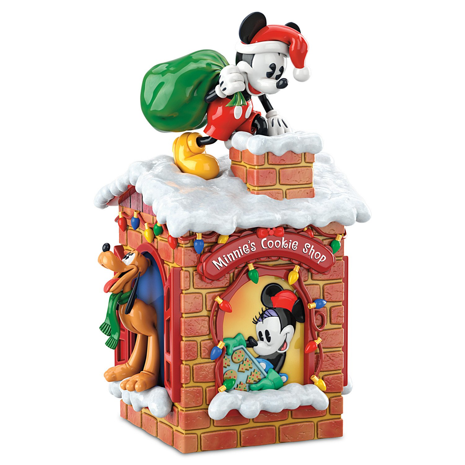 Disney Sweet Holiday Treats Mickey Mouse And Friends Christmas Cookie Jar by The Bradford Exchange by Bradford Exchange