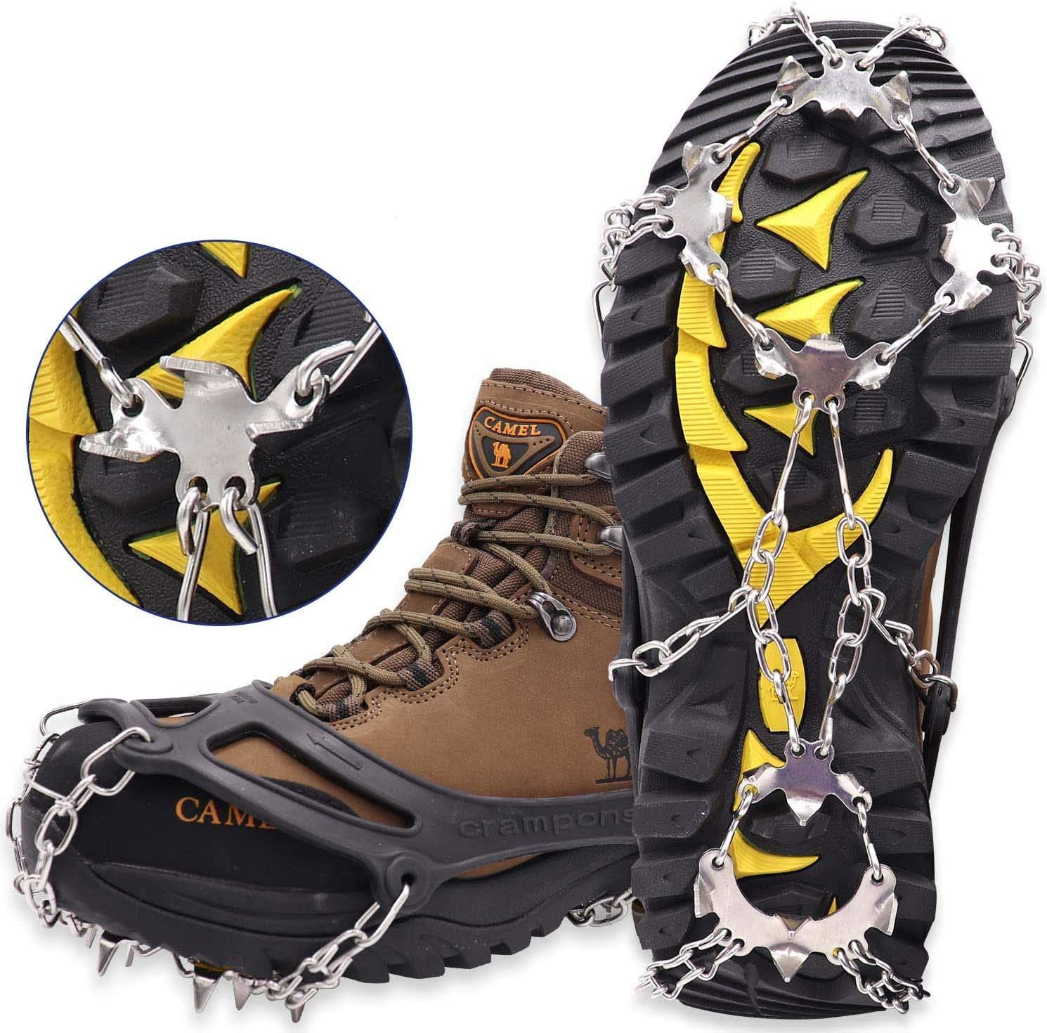 Marwey Crampons Ice Snow Grips Traction