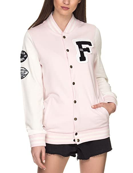 super popular 75820 8e7ab Franklin & Marshall - Giacca - Donna Pink Small: Amazon.it ...