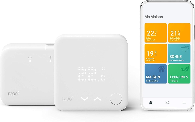 tado° Thermostat Intelligent sans fil Kit de Démarrage V3+ - Contrôle intelligent...