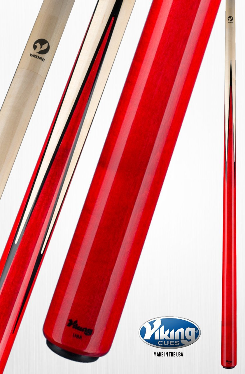 Viking a365プールキュースティック4 Birdseye Maple Inlaidポイント – Crimson Red Stain | Northwoods Mapleクイックリリースジョイントvikoreシャフト18、18.5、19、19.5、20、20.5、21オンス B06X94VM2Y  19.0 オンス
