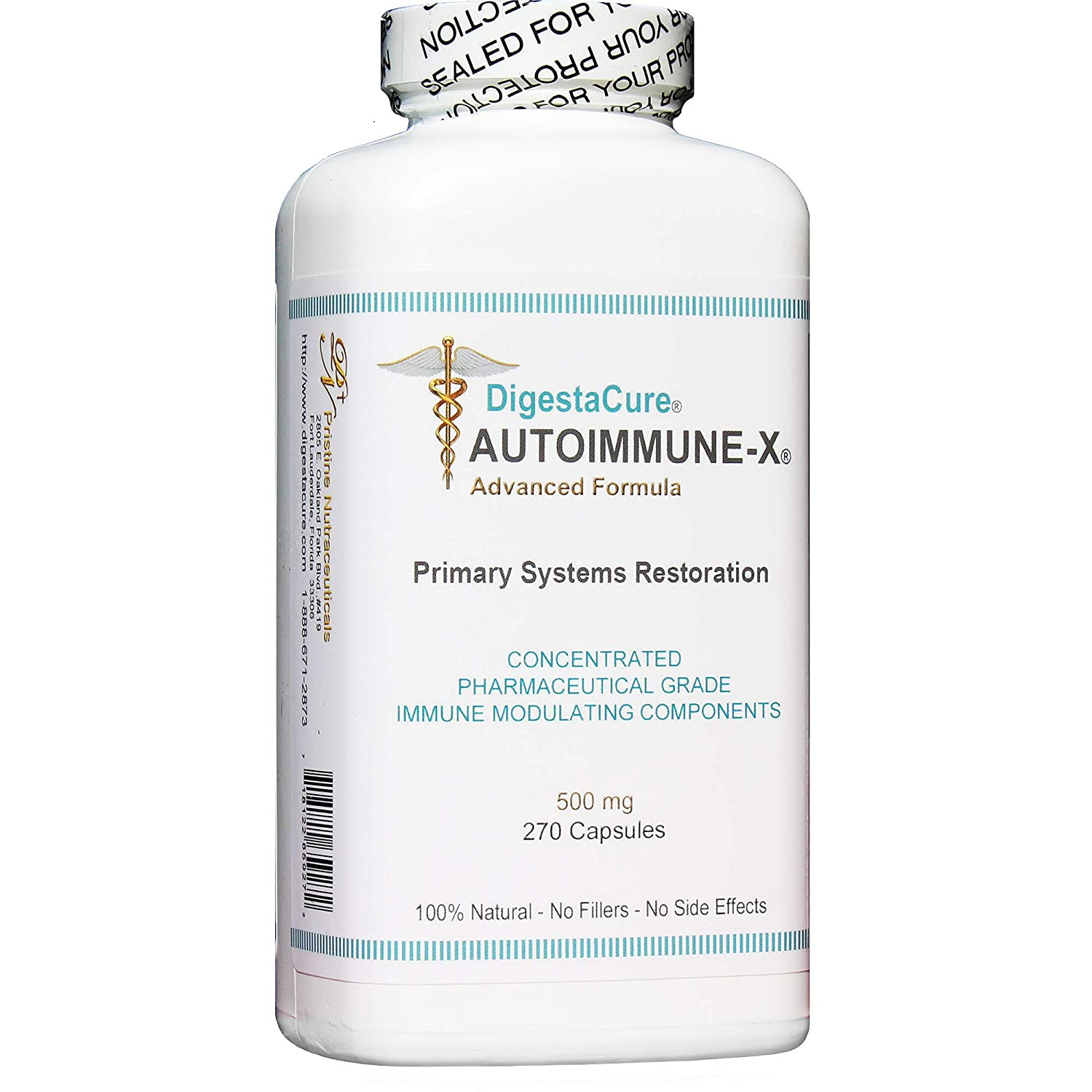 DigestaCure AUTOIMMUNE-X Advanced Formula Concentrated Immune Modulating Components. All Natural. 270 Capsules.