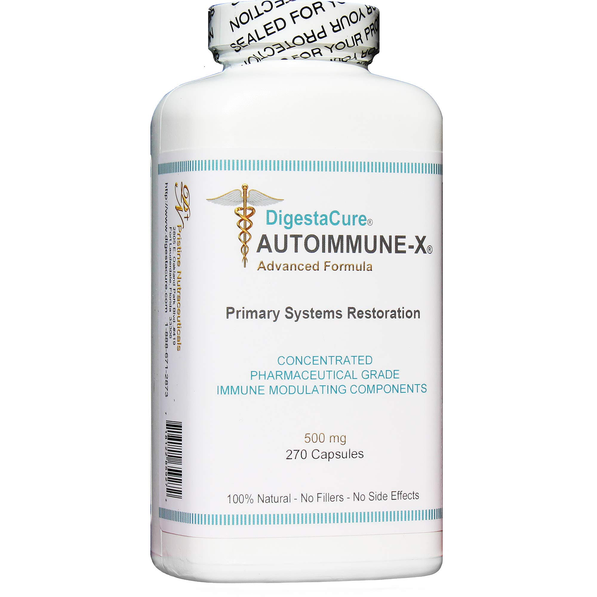 DigestaCure® AUTOIMMUNE-X® Advanced Formula: Concentrated Immune Modulating Components. 100% Natural. 270 Capsules.