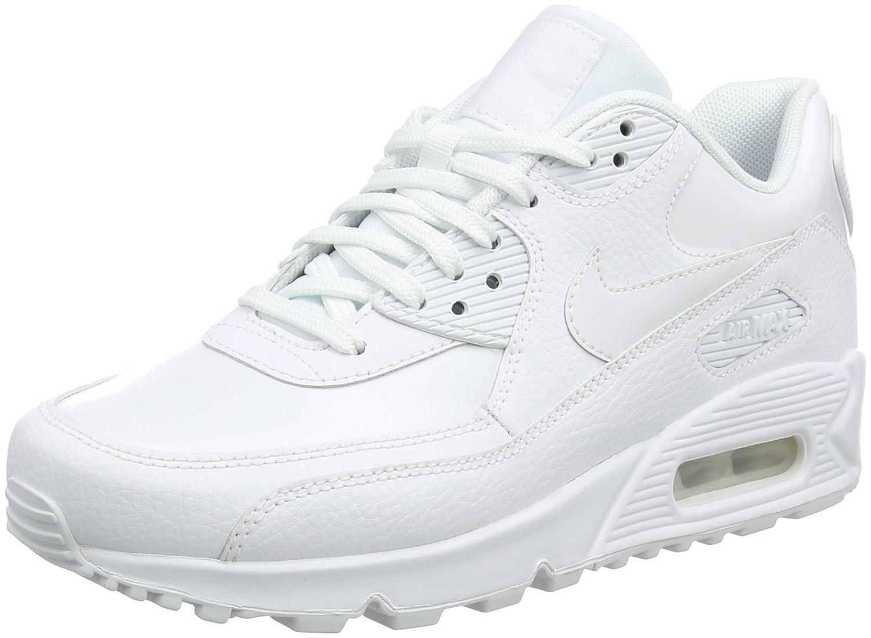 Nike Wmns Air MAX 90 Lea, Zapatillas de Trail Running para Mujer 42 EU|Blanco (White/White/White 101)
