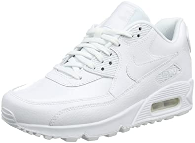 size 40 18752 a4749 Image Unavailable. Nike Women s WMNS AIR MAX 90 LEA, White White-White ...