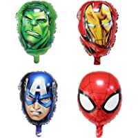 "4PCS Avengers Super hero Birthday Party Supplies 18"" Foil Balloons for Kids Baby Shower Birthday Pasrty Decorations"