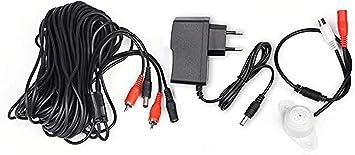 Opinión sobre tonton Audio Mic Micrófono para vigilancia Ton Pickup para vigilancia CCTV con 20 Metros de Cable y Fuente de alimentación para vigilancia Sistema CCTV