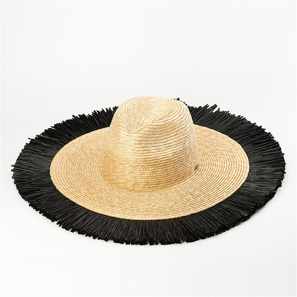 Women's UV Predection Straw hat Spring Summer Season Straw Hat Lady Brim Hat Along The Beach Sun Visor Straw Hat.