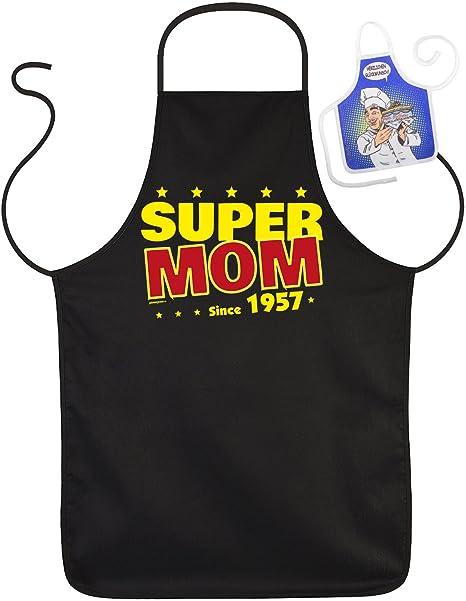 Grembiule 60 Regalo Di Compleanno 60 Anni Super Mamma Since 1957