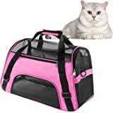 Soft Pet Carrier Airline Approved Soft Sided Pet Travel Carrying Handbag Under Seat Compatibility, Perfect for Small Cats and