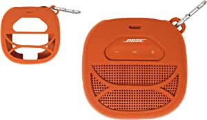 Customized Silicon Skin for Bose SoundLink Micro, Portable Outdoor Speaker by alltravel, Full Protection Cover from Shock, Shake and Drop, Free Carabiner for Easy Carrying