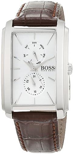 5b9a20a51ef3 Hugo BOSS Reloj Multiesfera para Hombre de Cuarzo con Correa en Cuero  1513592  Amazon.es  Relojes