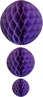 product image for Lavender Honeycomb Balls, Set of 3 (12 inch, 8 inch, 5 inch)