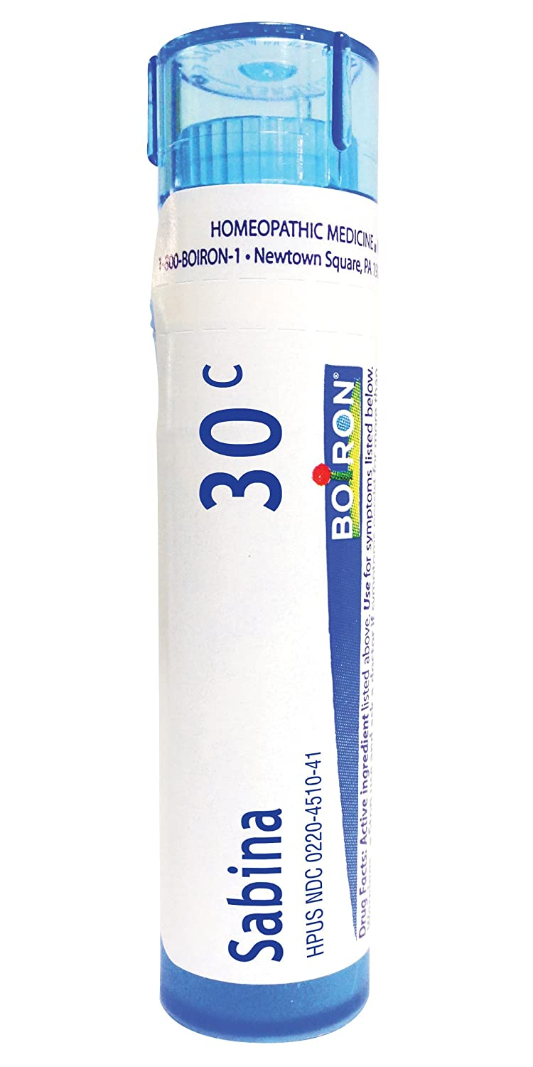 Boiron Sabina 30C (Pack of 5), Homeopathic Medicine for Menstruation
