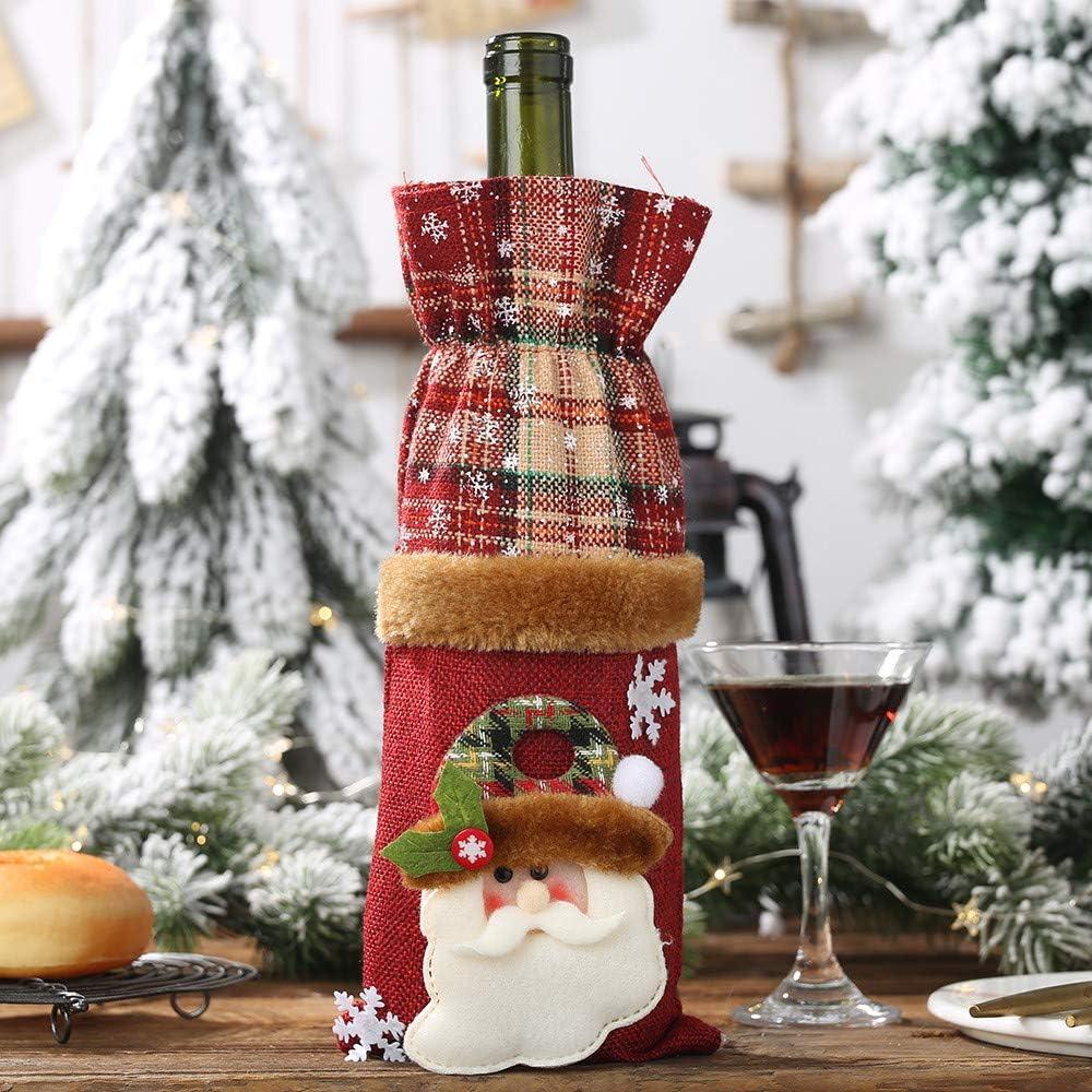 VICKY-HOHO - Juego de Adornos navideños para Botellas de Vino, de ...
