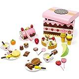 small foot 2847 sötsakslåda av trä, tillbehör för lastbilar och barnkök med sötsaker, 56 dl, från 3 år