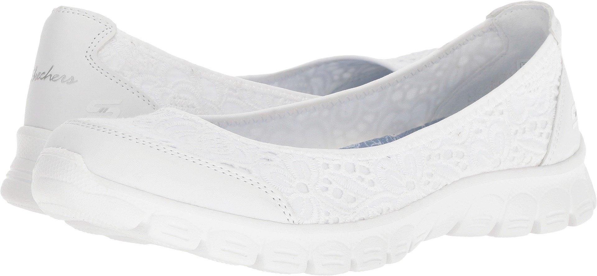 Skechers EZ Flex 3.0 Be You Womens Slip On Skimmer Sneakers White 9