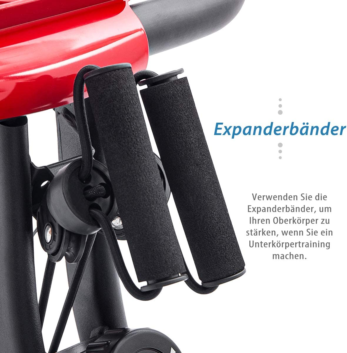 Merax Fitness Bike bicicleta est/ática con ordenador de entrenamiento y expansor de entrenamiento bicicleta plegable 10 niveles de resistencia magn/ética bicicleta de fitness plegable
