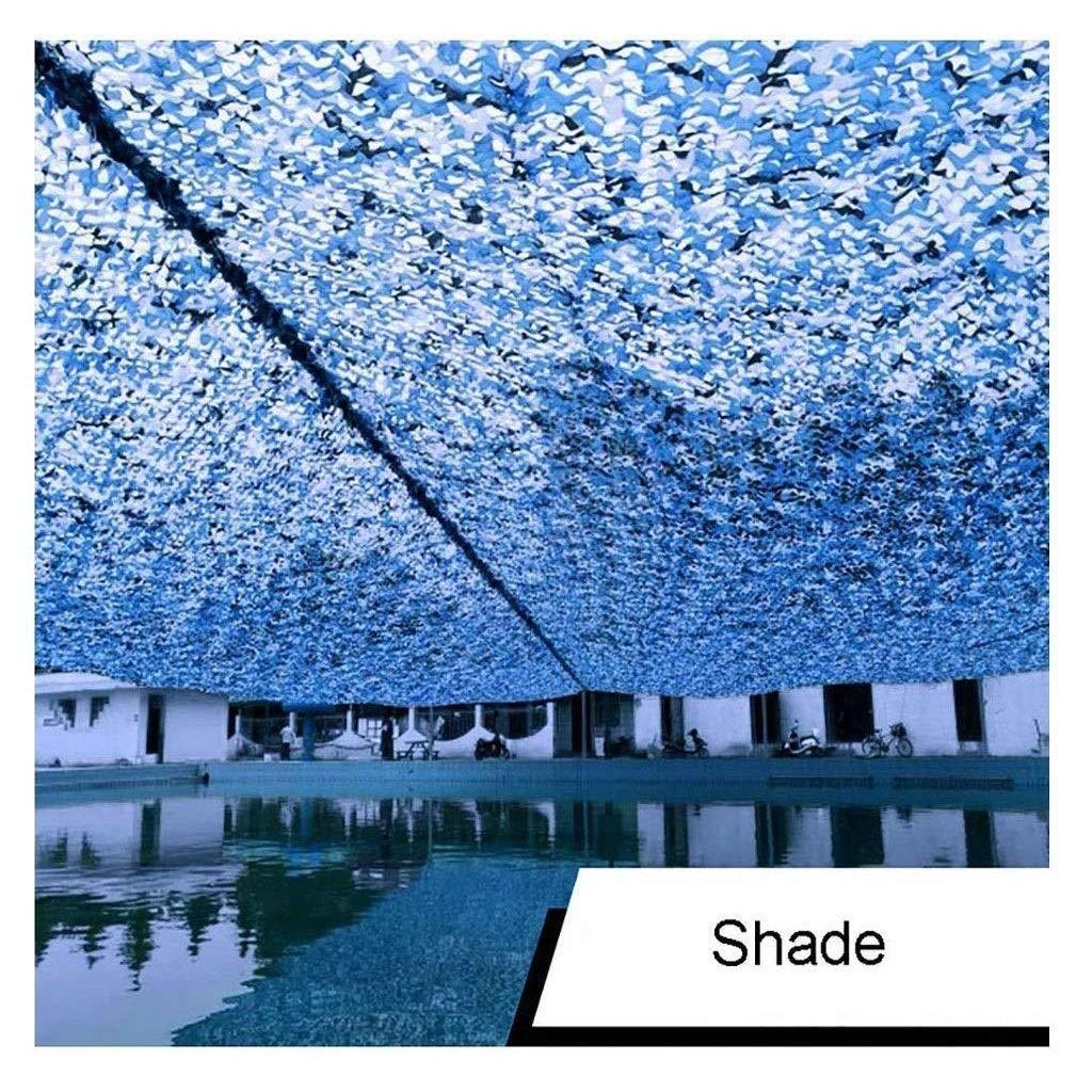 46M(13.119.7ft) Ombre Voile Camouflage Net Bleu 5x3m, Couverture De Voiture Décoration De Jardin Prougeection De Réseau Extérieur Prougeection De Tente Tente Photographie Solaire Tente De Chasse Caché Camo Netting