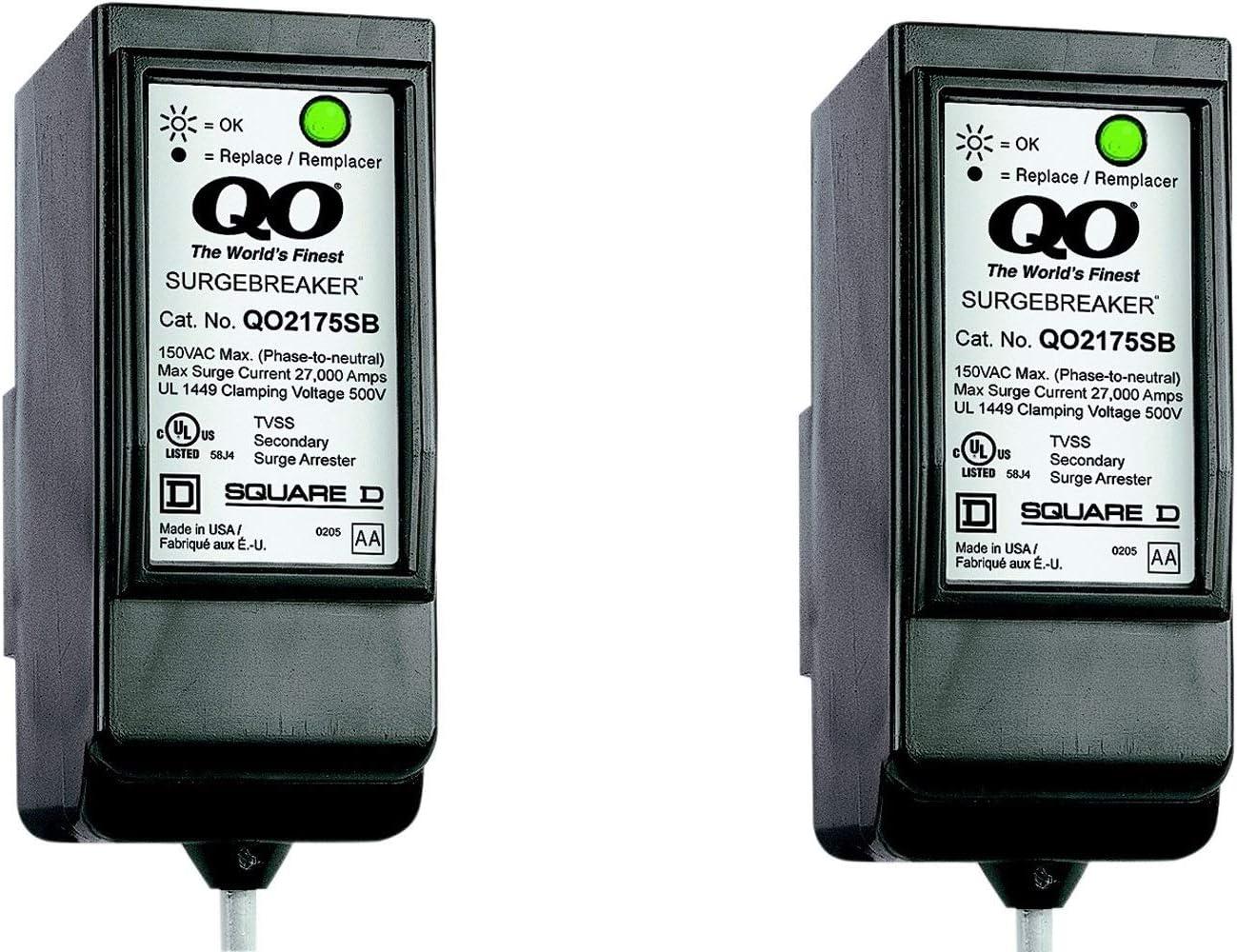 Square D QO Surgebreaker Surge Protective Device Takes 2 Load Center Spaces