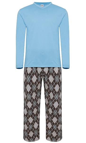 Pijama para hombre, forro abrigado azul Lt. Blue / Argyle Pant (MPJ)