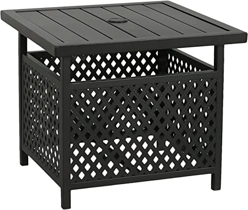 Iwicker Patio Umbrella Side Table Stand