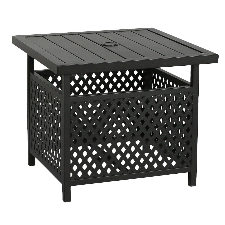 Amazon Com Iwicker Patio Umbrella Side Table Stand Outdoor Bistro
