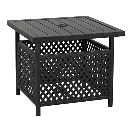Amazon Com Iwicker Patio Umbrella Side Table Stand Outdoor Bistro
