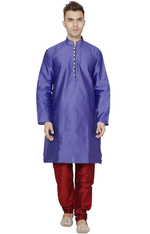 9458633b999b Long Sleeve Kurta Pajama for Men Pyjama Set Indian Clothing  Amazon.in   Clothing   Accessories
