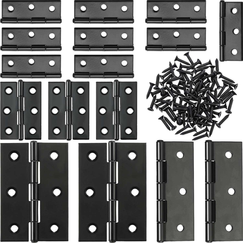 16 St/ück Boao Klappscharniere aus Edelstahl mit 96 Edelstahl-Schrauben