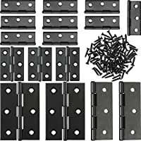 Boao 16 Pieces Stainless Steel Folding Butt Hinges Home Furniture Hardware Door Hinge with 96 Pieces Stainless Steel…