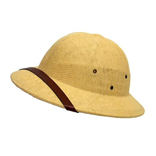 7cbde99209a Amazon.com  Novelty Helmet Pith Straw Hats for Men VC Vietnam War Army Sun  Hat Caps Beach  Clothing