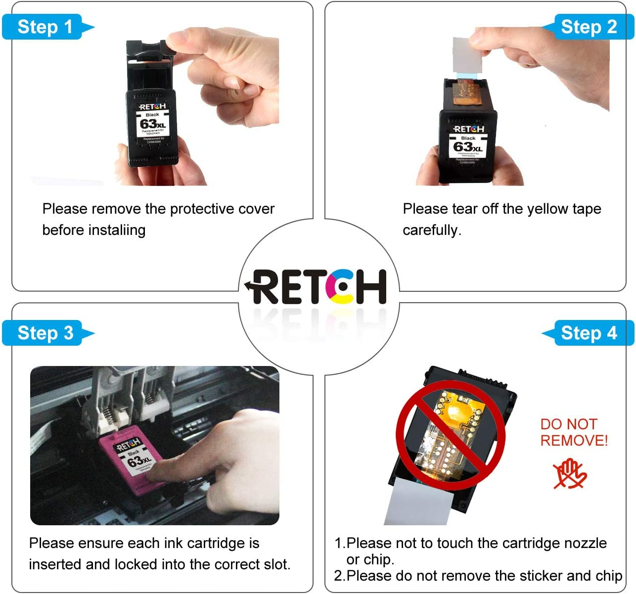 Amazon.com: Retch - Cartucho de tinta de repuesto para ...