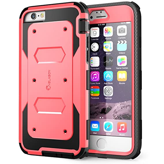 b35f658818 Amazon.com: iPhone 6 Plus Case , i-Blason [Armorbox] built-in Screen ...