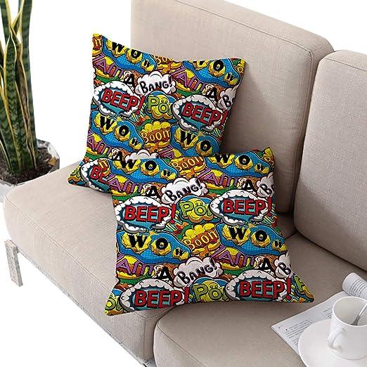 Alexandear Superhero IKEA fundas de almohada cuadradas, con ...