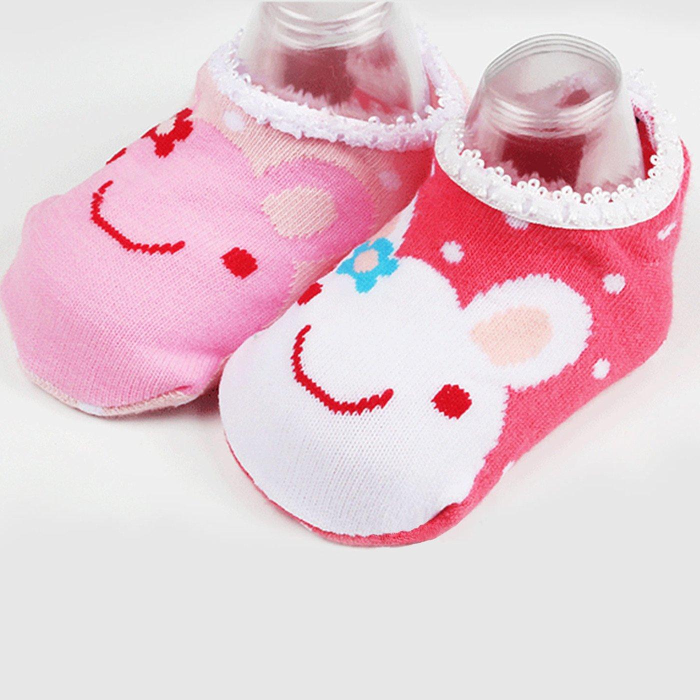 GOPOWD Bebé Niña Calcetines Antideslizantes con Algodón 6 Pares para 1 a 3 años: Amazon.es: Ropa y accesorios