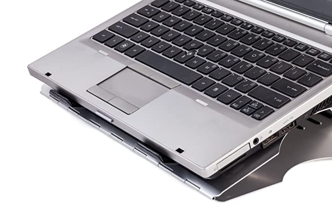 Halter LZ-207 - Soporte ajustable para ordenador portátil con 6 ángulos ajustables, diseño giratorio y gestión de cables para ordenador portátil, notebook, ...
