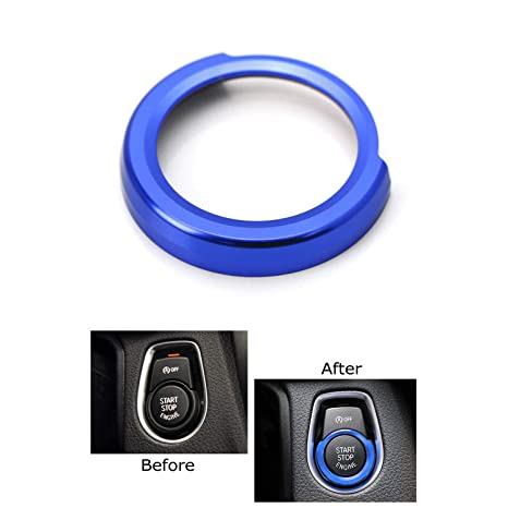 Black Keyless Engine Start Stop Button Ring Cover Sticker for bmw