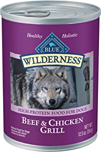 Blue Buffalo Wilderness High Protein, Natural Adult Wet Dog Food, 12.5-oz cans (Pack of 12)