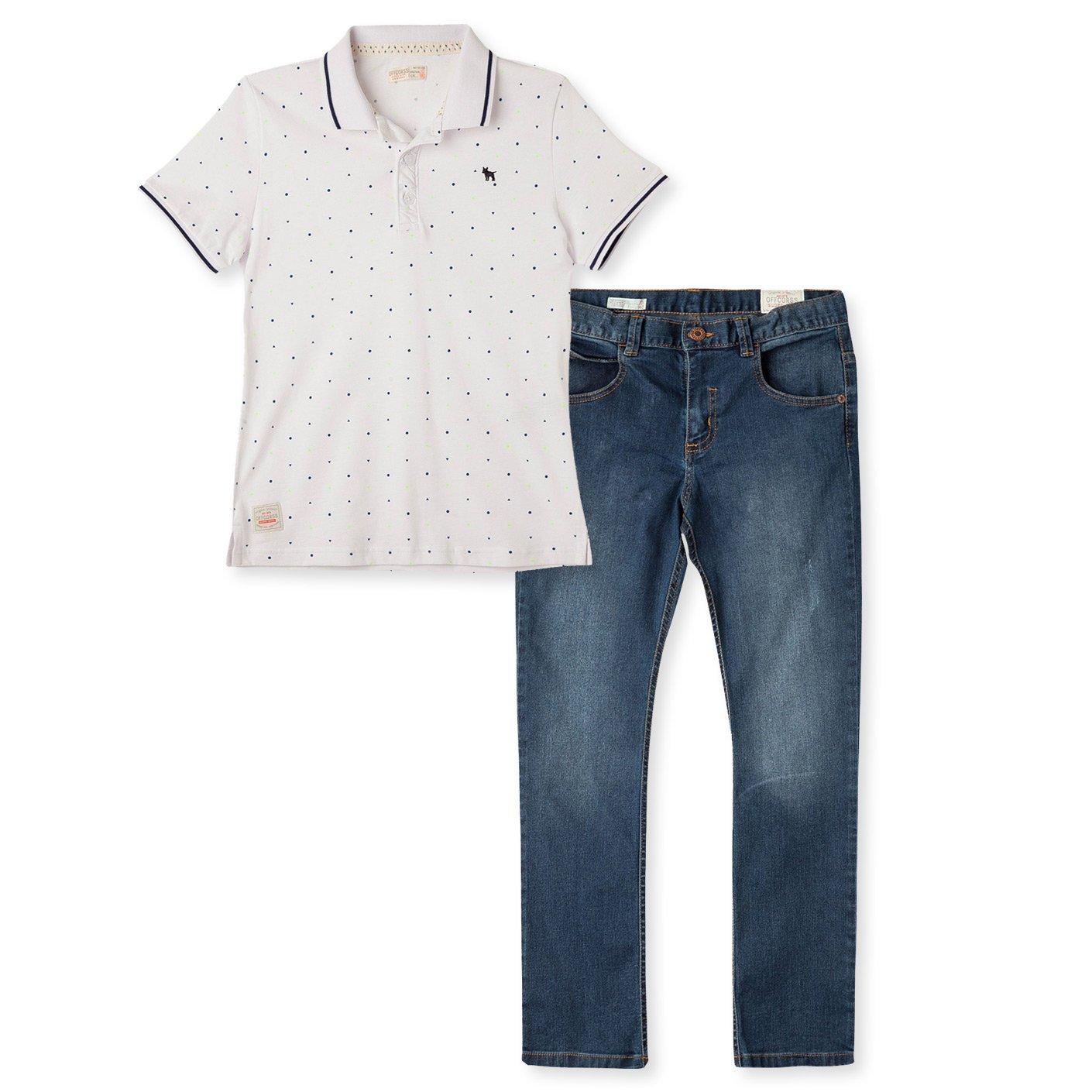 ed8bce79 Amazon.com: OFFCORSS Polo Shirts Jeans for Boys: Clothing