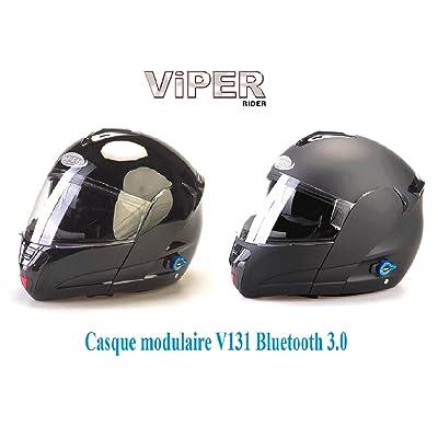 Casque de moto Nouveau Viper RSV131 Bluetooth 3.0 moto relevez Casque moto flip devant ECE ACU or approuvé tourisme casque modulaire