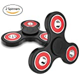 2 Pack Fidget Spinner Toy Stress Reducer - Perfect For ADD, ADHD, Anxiety, and Autism Adult Children for Killing Time.