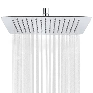 rectangular rain shower head. sr sun rise 10 inch ultra thin solid square stainless steel rain shower head high pressure rectangular