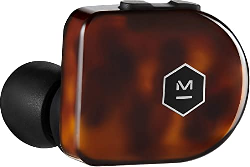 Master Dynamic MW07 Plus True Wireless Earphones – Noise Cancelling with Mic Bluetooth, Lightweight in-Ear Headphones – Tortoise Shell